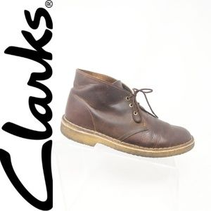 CLARKS Originals Mens US 7 Brown Leather Chukka